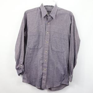 Vtg Burberry Mens Small Button Up Flannel Shirt